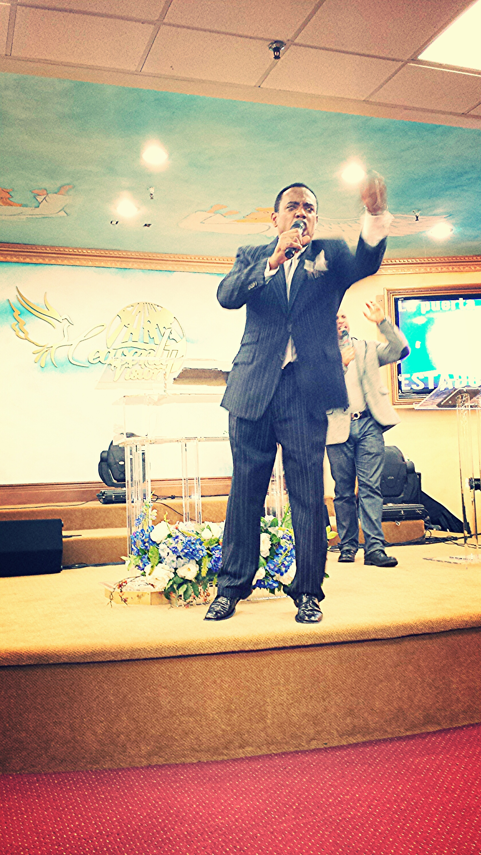"Pastor Sabino preaching on ""Enter the Open Doors"""